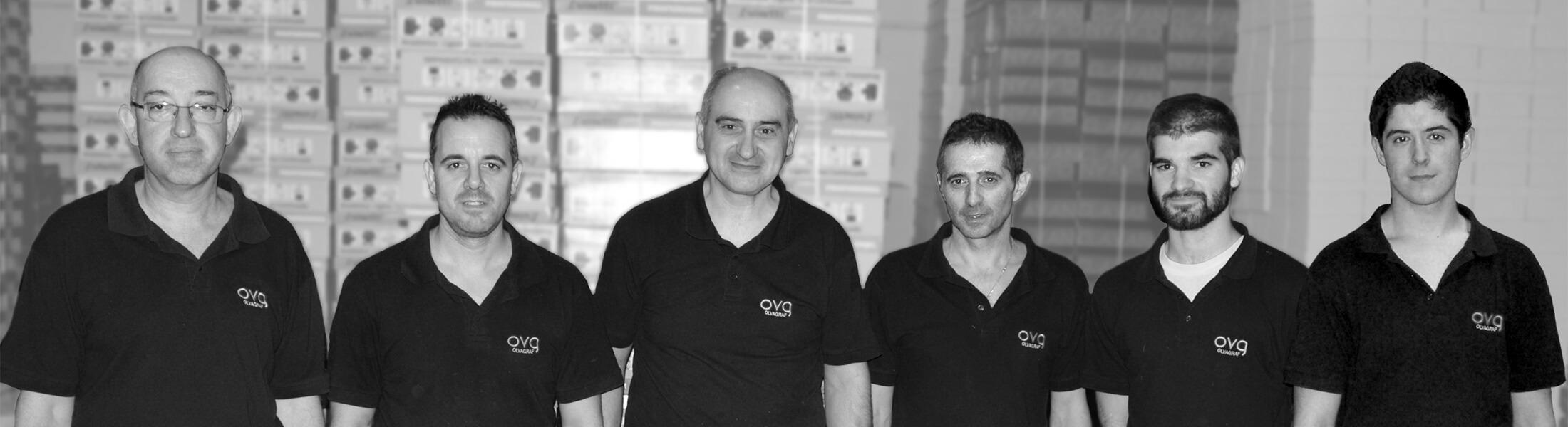 El equipo de trabajo de Olvagraf